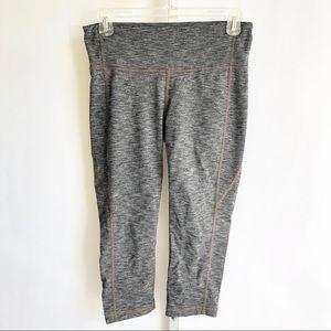 Athleta Grey Space Dye Crop Leggings